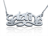 Catalina Graffiti Name Necklace by BestNameNecklace.com