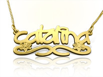 Catalina Gold Name Necklace