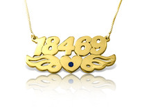 Wings Gold Plated Name Necklace with Swarovski Element || BestNameNecklace