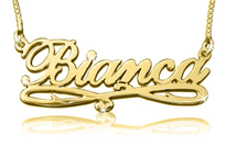 Bianca Gold Plated Name Necklace