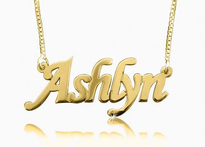 Ashlyn Corsiva Gold Plated Name Necklace