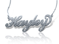 sparkling name necklace silver