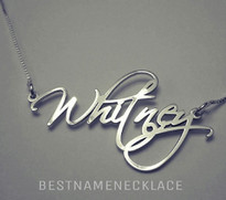 Monogram Free Hand Name Necklace || BestNameNecklace