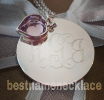 Engraved Interlocking Monogram Necklace