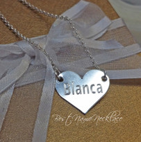 Mini Engraved Heart Necklace