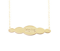 Cloudee Engraved Pendant Necklace