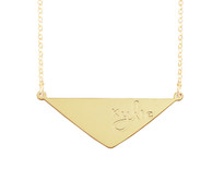 Engraved Trian Pendant Necklace