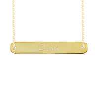 Georgia Engraved Name Necklace