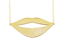Sonrisa Style Engraved Name Plate Necklace