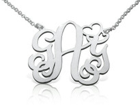 Mini Heart Monogram Necklace Personalized