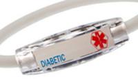 Stylish & Conformable Medical Alert Diabetic Bracelet