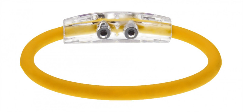 IonLoop Yellow Attack  Cycling Bracelet (back view)