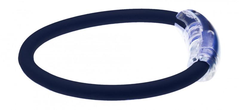 IonLoop Navy Blue Ion Magnetic Bracelet (side view)