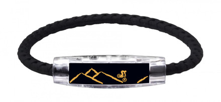IonLoop Black Mountain Bike Bracelet (front view)