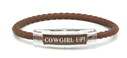 Cowgirl Up Brown Braided Bracelet
