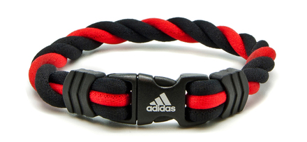 Adidas Braided Ionic Wristband - Red (front view)