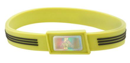 Lime adidas Sports Bracelet - front