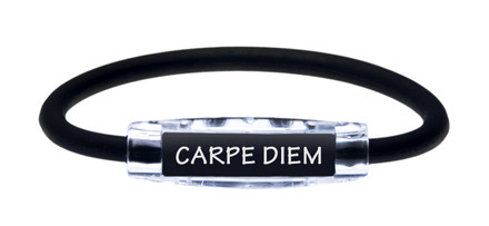 IonLoop Jet Black Carpe Diem (front view)