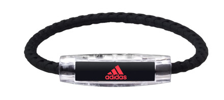 adidas Black Braided Bracelet (front view)