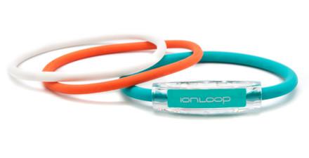 TRI Loop Turquoise Sea Pak  1 Turquoise Sea Magnet IonLoop Bracelet, 2 IonThins (Pearl White & Orange Crush)