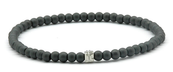 IonLoop  mag/fusion Bracelet contains slate gray magnetic pearls (front view)