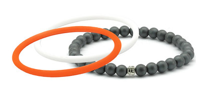 mag/fusion +Plus Orange Crush + White Pearl 1 mag/fusion PLUS magnetic Bracelet, 2 IonThins  (Orange Crush + White Pearl)