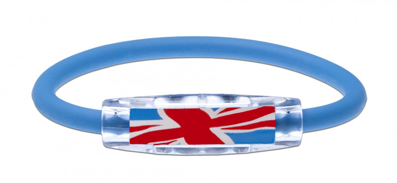 IonLoop United Kingdom Flag Bracelet (front view)