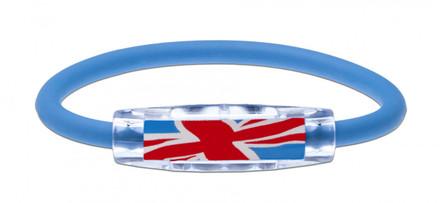 IonLoop United Kingdom Flag Bracelet (front view)