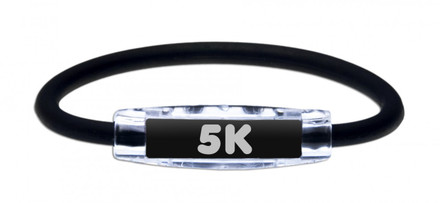IonLoop 5K Runners Bracelet with Negative Ions & Magnets (front view)
