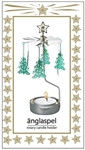 Änglaspel Christmas Tree rotary candle holder
