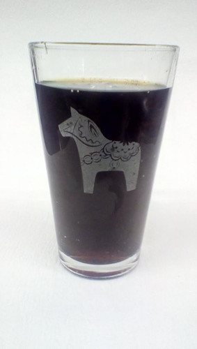 Dala Horse Pint Glass