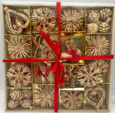 56 piece Swedish Straw Ornament set