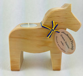 Wood Dala Horse Candle Holder