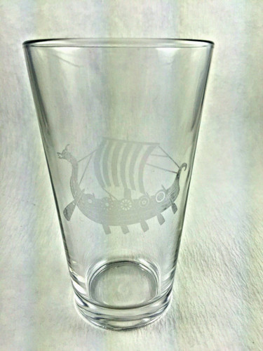 Viking Ship Pint Glass