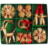 29 Piece Straw Ornaments