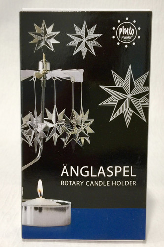 Änglaspel Silver Star Rotary Candle Holder