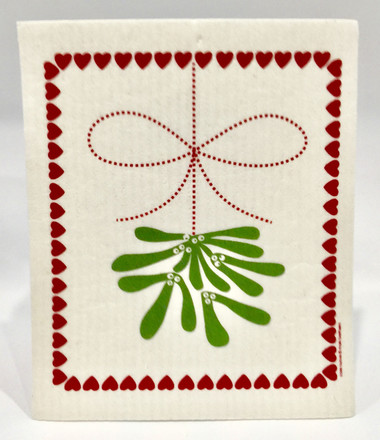 Mistletoe Swedish Dishcloth