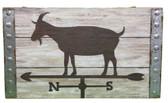 Goat weathervane sign