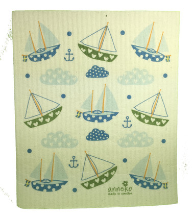 Swedish Sailboat Swedish Dishcloth