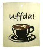 Uffda! Coffee Cup Swedish Dishcloth