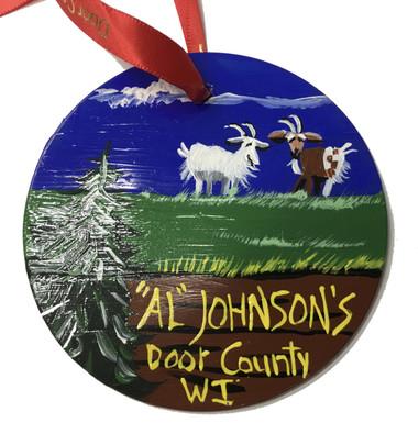 Al Johnson's Roof Goat Ornament