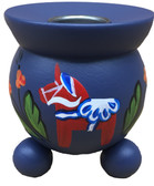 Dalahorse Barrel Votive (blue)