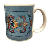 Norwegian Blue Rosemaled Mug