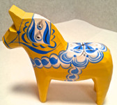 Pastel Yellow Dala Horse