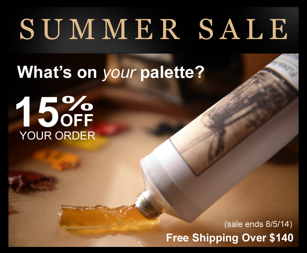 Old Masters Maroger Summer Sale! 15% OFF
