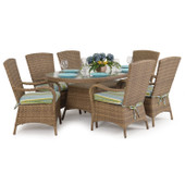 6000 Series Outdoor 7pc Dining Set Oyster Grey