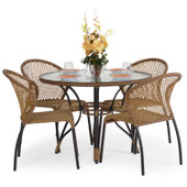3200 Series Outdoor 5pc Bistro Set Coconut