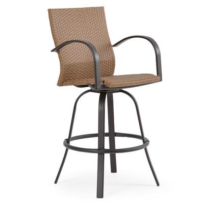 3245 Outdoor Wicker Swivel Barstool