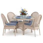 6700 Series Outdoor Wicker 5PC Dining in White Sand Finish.