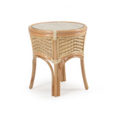 5521 Rattan Round End Table